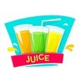 Juice concept design illlustration vector image