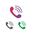 telephone call icon set clipart isolated on white vector image