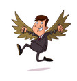 businessman with wing vector image