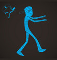 halloween cartoon character set mummy vector image
