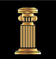 Gold column vector image