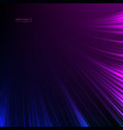 abstract background neon lights blue purple lines vector image