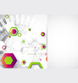 abstract background science template wallpaper or vector image vector image