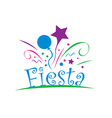 abstract logo for the fiesta vector image
