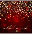 abstract shining falling stars on red ambient vector image vector image