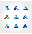 abstract triangle business logo collection vector image vector image