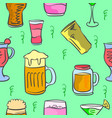 art drink pattern style vector image vector image