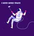 astronaut in weightless spaceman in outer space vector image