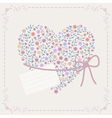 Background with heart and frame vector image vector image