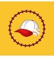 baseball hat ball vector image vector image
