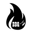 bbq icon logo vector image vector image