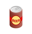 Beer can isometric 3d icon vector image vector image