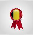 belgium flag badge design vector image