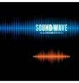 Blue and orange shiny sound waveform background vector image vector image