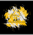 brush background with yellow-white color vector image