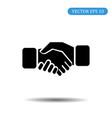 business handshake icon eps 10 vector image vector image