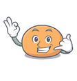 call me mochi mascot cartoon style vector image vector image