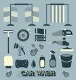 Car Wash Icons and Silhouettes