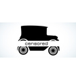 censored old car silhouette vector image vector image