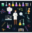 Chemical and menicine laboratory equipment icon vector image vector image