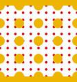 circles pattern - basic duotone red-yellow vector image