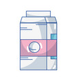 delicious milk box with nutrients ingredients vector image vector image