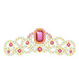 diadem icon luxury tiara for coronation and vector image