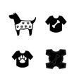 dog clothes icons in a jacket with paws vector image