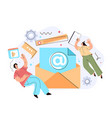 email envelope marketing chatting support vector image vector image