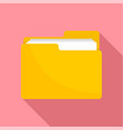 file folder icon flat style vector image