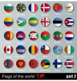 Flags of all countries with shadows vector image