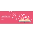 Flat background with book vector image