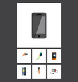 flat icon phone set of smartphone keep phone vector image vector image