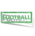 Green outlined FOOTBALL stamp vector image vector image