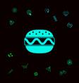 hamburger or cheeseburger icon graphic elements vector image