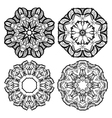Hand-drawn mehendi ornamental elements and mandala vector image vector image
