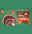 happy thanksgiving day autumn traditional harvest vector image vector image