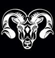 head mascot ram isolated on black vector image