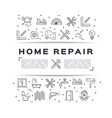 home repair flyer construction poster house vector image