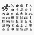 Human resource icons set vector image vector image