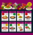 korean cuisine menu design vector image vector image