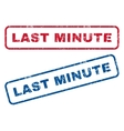 Last Minute Rubber Stamps vector image vector image