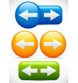 left right arrow buttons vector image