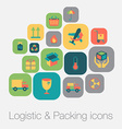 Logistic and packing icon vector image
