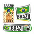 Logo for brazil vector image