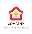 logo for real estate company selling and making vector image