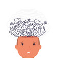 man with mental disorder in confusion thoughts vector image