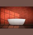 modern bath in loft interior vector image vector image