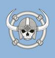 monochrome skull vector image vector image