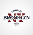 new york varsity theme vector image